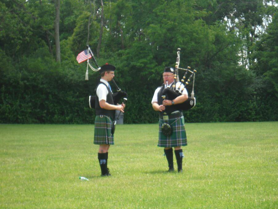 Bagpipers at Memorial Day 2017